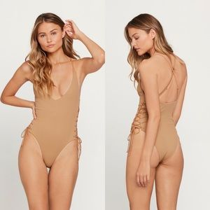 L*SPACE Ribbed High & Mighty One Piece Swimsuit